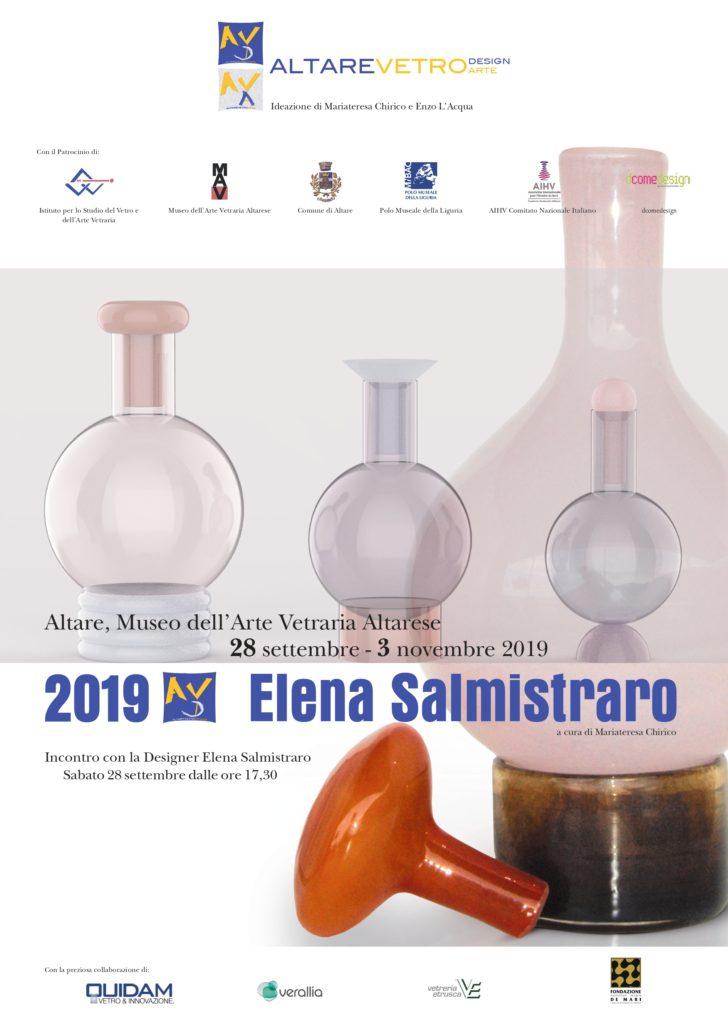 Dal 28 settembre al 4 novembre 2019 Mostra ALTARE VETRO DESIGN – ELENA SALMISTRARO