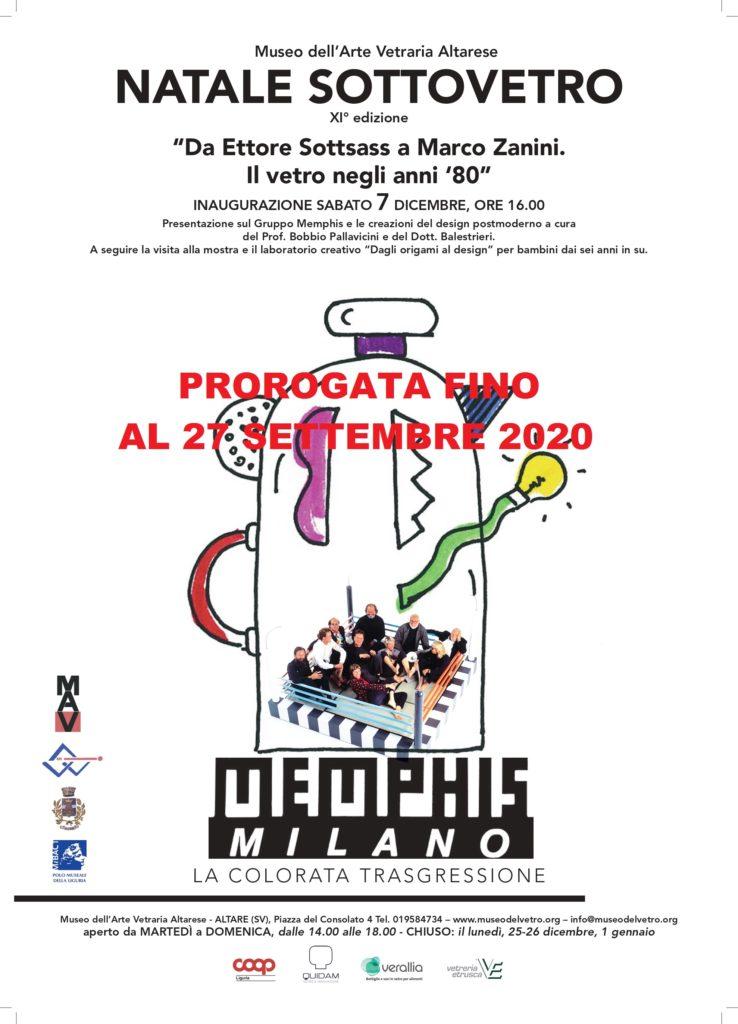"""MOSTRA PROROGATA FINO AL 27 SETTEMBRE – NATALE SOTTOVETRO """"Da Ettore Sottsass a Marco Zanini. Il vetro negli anni '80"""""""